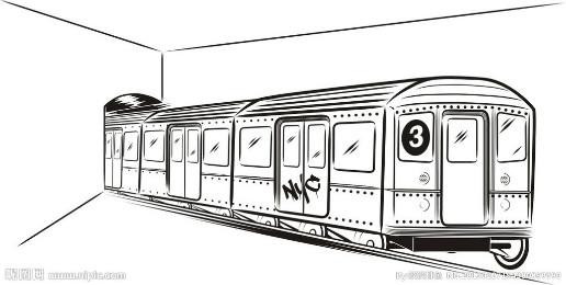 怎么画火车与铁轨画画