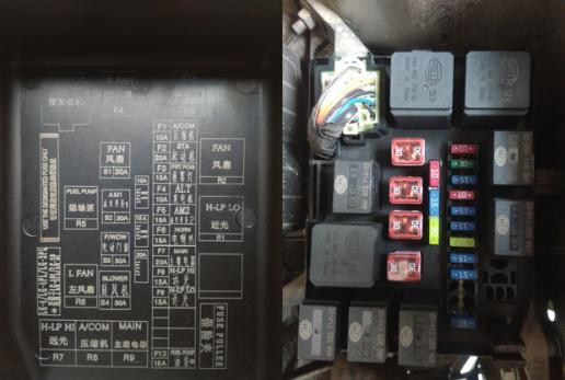 14款新金刚安装日行灯怎么接线有保险盒图发动机启动