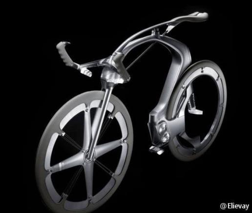 标志设计的这款无链条自行车的驱动原理是什么,上网找没图片