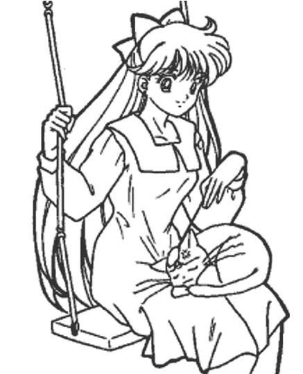 我传了一幅卡通美少女的简笔画,不知这个你喜不喜欢.