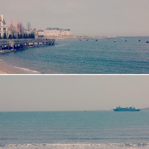去辽宁葫芦岛的兴城海滨和觉华岛锦州的笔架山,盘锦的红海滩.