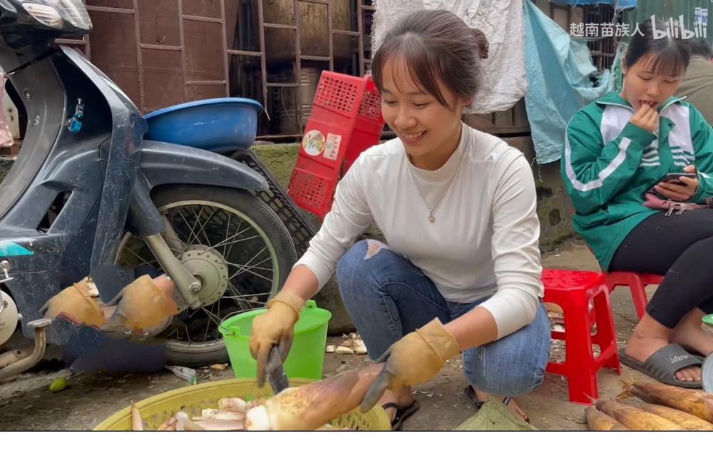 卖竹笋的越南妹子