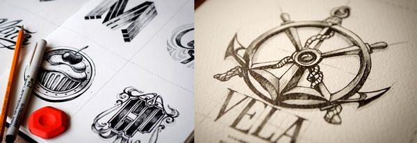 20个精雕细琢的logo草图设计