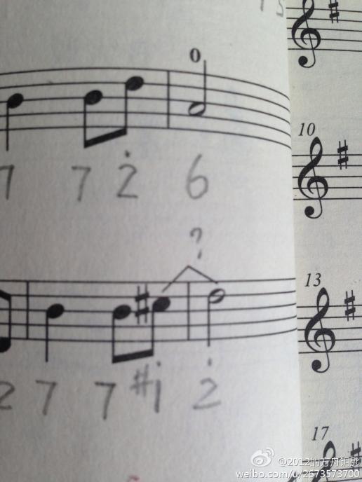 简笔画音乐符号空心