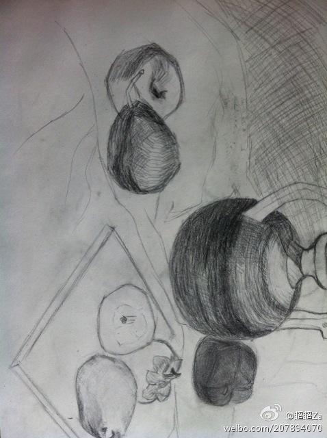 烤鸭铅笔画