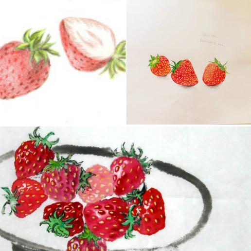 给您找了几幅草莓手绘图~希望能帮助到您