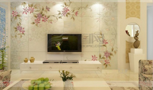 电视背景墙用什么样颜色壁画好.还有图案求推荐/炮炮兵歪脖