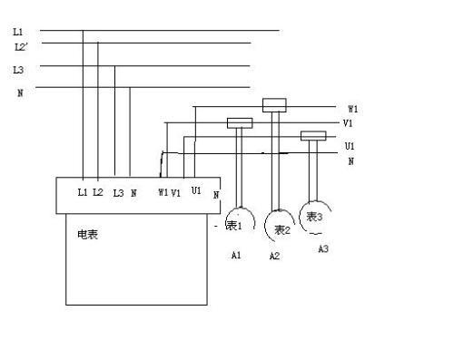 亲三相四线电度表带电流互感器怎么接求电路图求实物