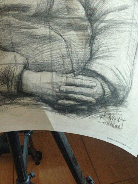 牛仔裤手绘素描结构图片