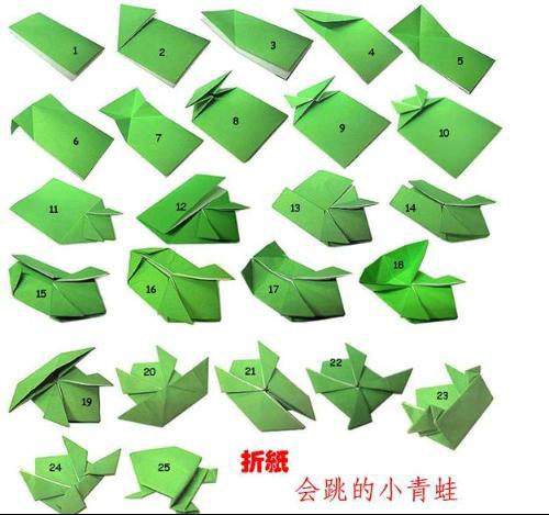 如何用纸折能跳跳青蛙 - 爱问知识人