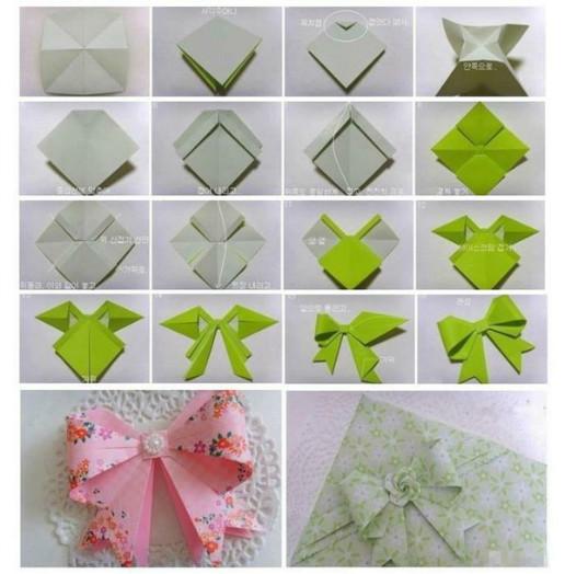 怎样用正方形纸折蝴蝶结