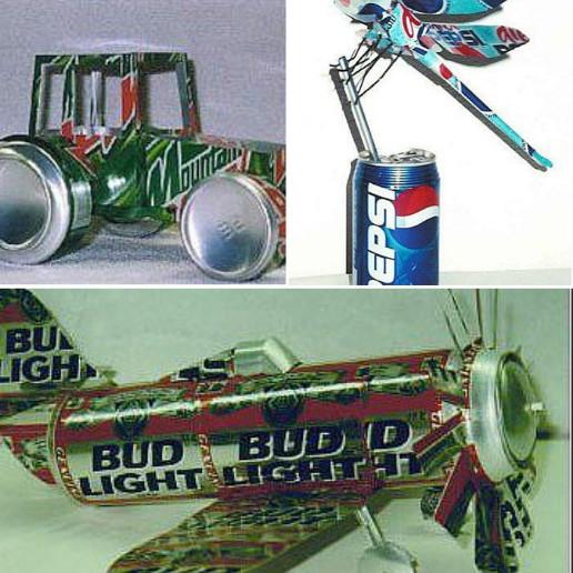可以用易拉罐制作的模型玩具汽车