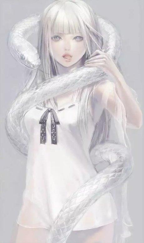 梦见小白蛇缠身