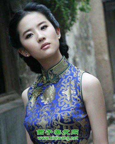 刘亦菲旗袍发型怎么弄