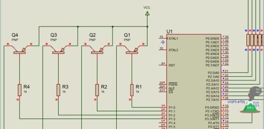 tesu仿真pnp三极管 为什么基极为高电平时候,集电极也为高电平,集电极