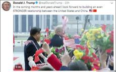 特朗普发推夸赞中国仪仗队非常精彩 印象深刻