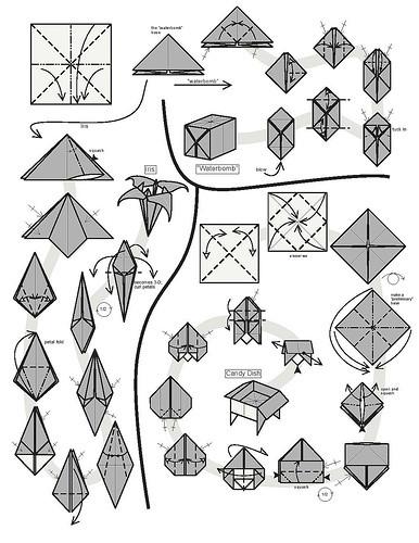 纸折百合花的折法图解