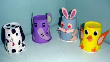 如何用纸杯制作小动物