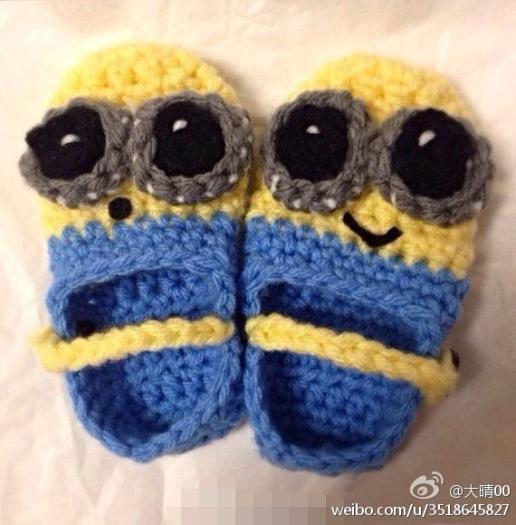 可以教一下小黄人宝宝鞋子的勾法么?