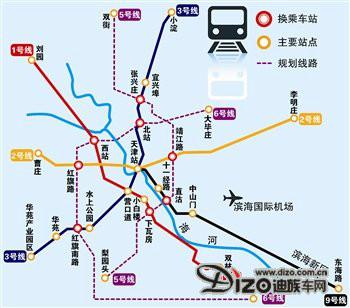 天津地铁6号线的详细的线路位置图 有么?