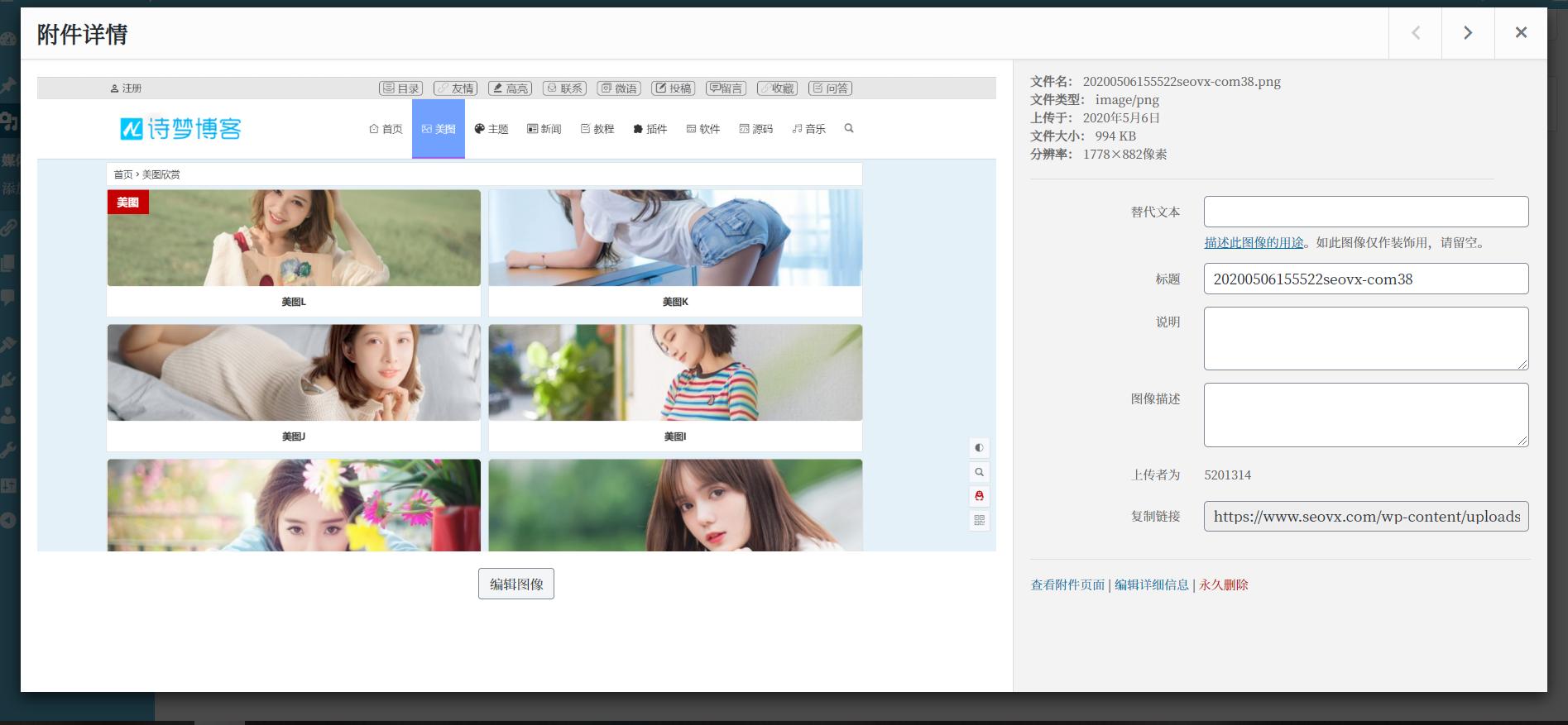 夏沫博客:WordPress后台上传图片自动重命名,血饮资源网